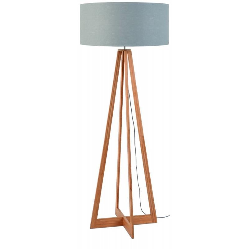 Lámpara de lino verde EverEST (natural, gris claro)