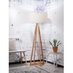 EverEST lampada in piedi di bambù e paralume di lino ecologico (lino naturale e leggero)