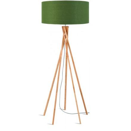 KilIMANJARO grüne Leinenlampe zu Fuß und grüne Leinenlampe (natürlich, dunkelgrün)