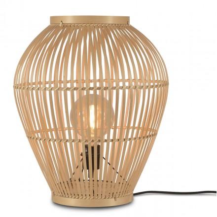 Tischleuchte, Bambus-Stehleuchte SMALL (H50) TUVALU (natürlich)
