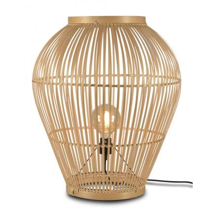 Lampada da tavolo, lampada da terra in bambù XL (H70) TUVALU (naturale)
