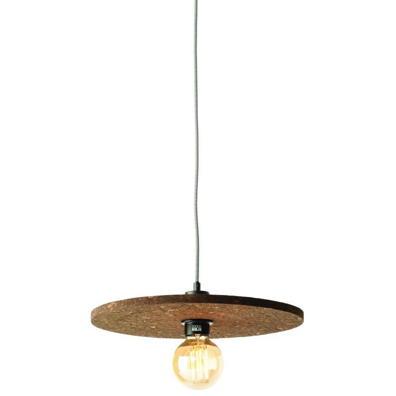 Lampe à suspension en liège ALGARVE (marron foncé) - image 44986