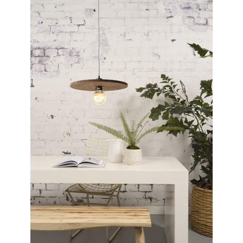 Lámpara de suspensión de corcho ALGARVE (marrón oscuro) - image 44990