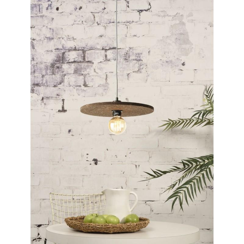Lámpara de suspensión de corcho ALGARVE (marrón oscuro) - image 44992
