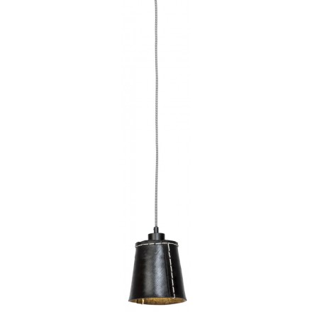 AMAZON SMALL 1 recycled tire suspension lamp shade (black)