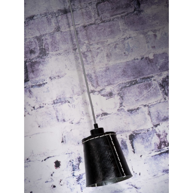 AMAZON SMALL 1 tonalità lampada sospensione pneumatici riciclati (nero) - image 45002