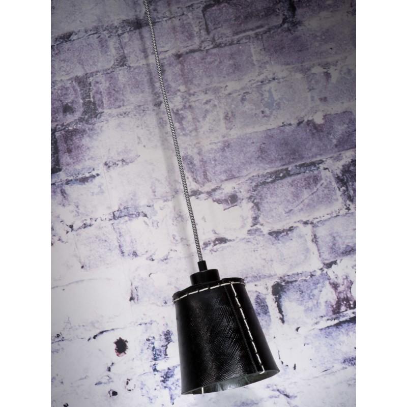 AMAZON SMALL 1 pantalla de lámpara de suspensión de neumáticoreciclado (negro) - image 45002