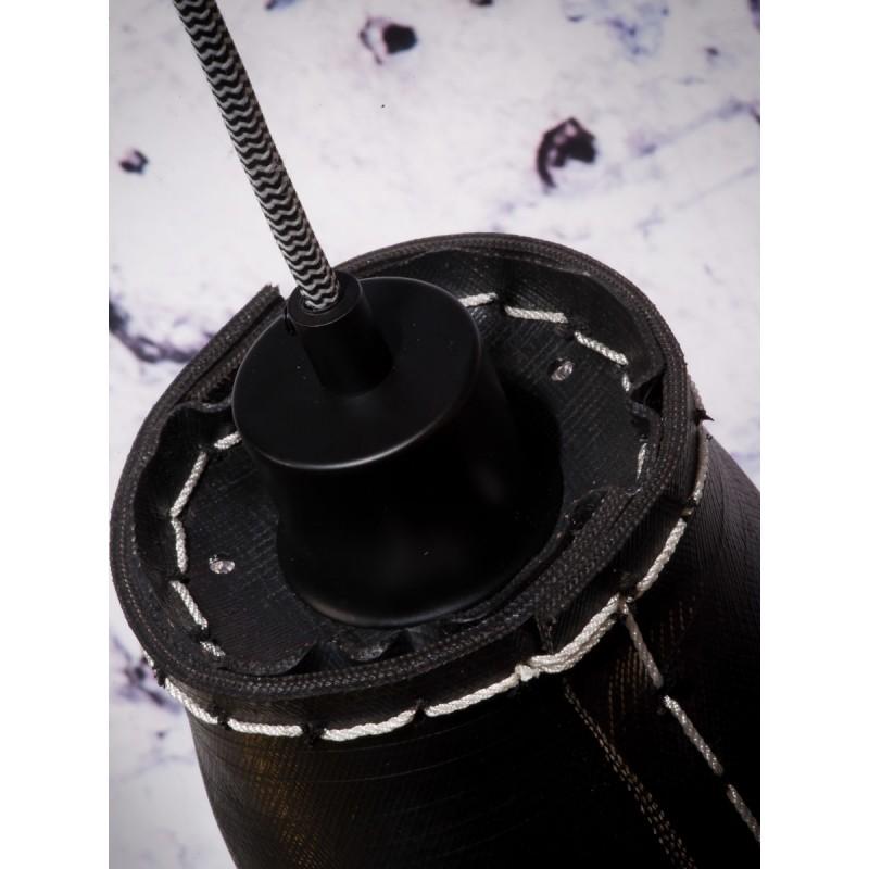 Lámpara de suspensión de neumáticos reciclada AMAZON SMALL 7 (negro) - image 45023