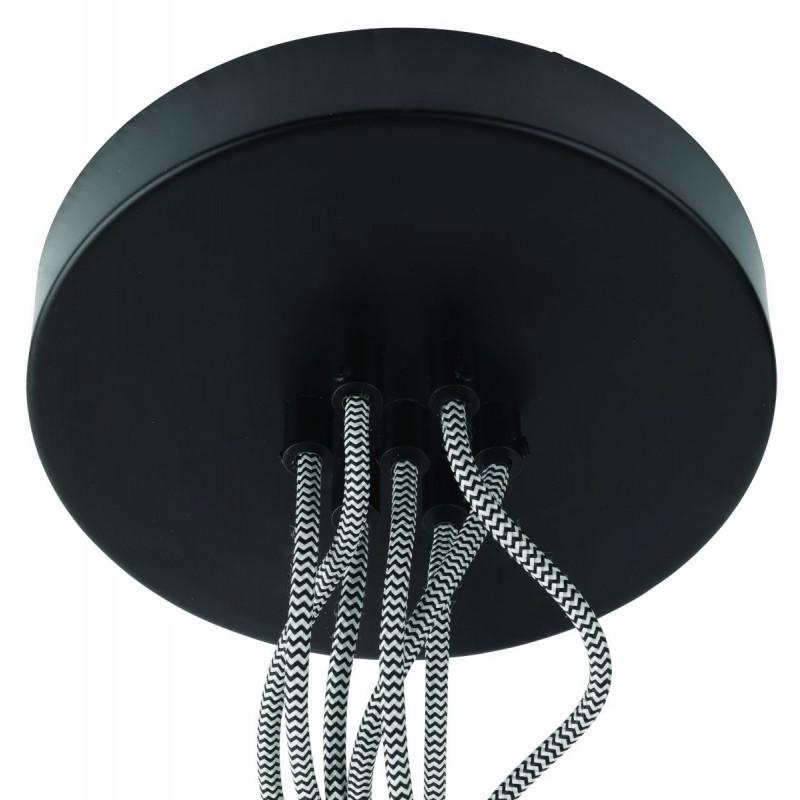 Lámpara de suspensión de neumáticos reciclada AMAZON SMALL 7 (negro) - image 45025