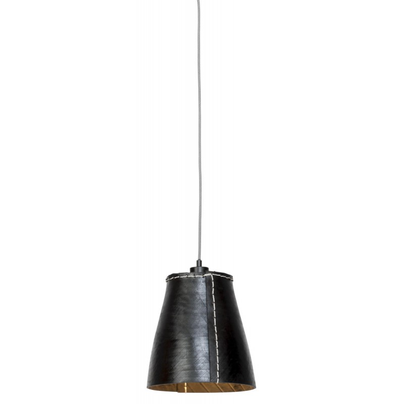 AMAZON XL 1 pantalla de lámpara de suspensión de neumáticoreciclado (negro)