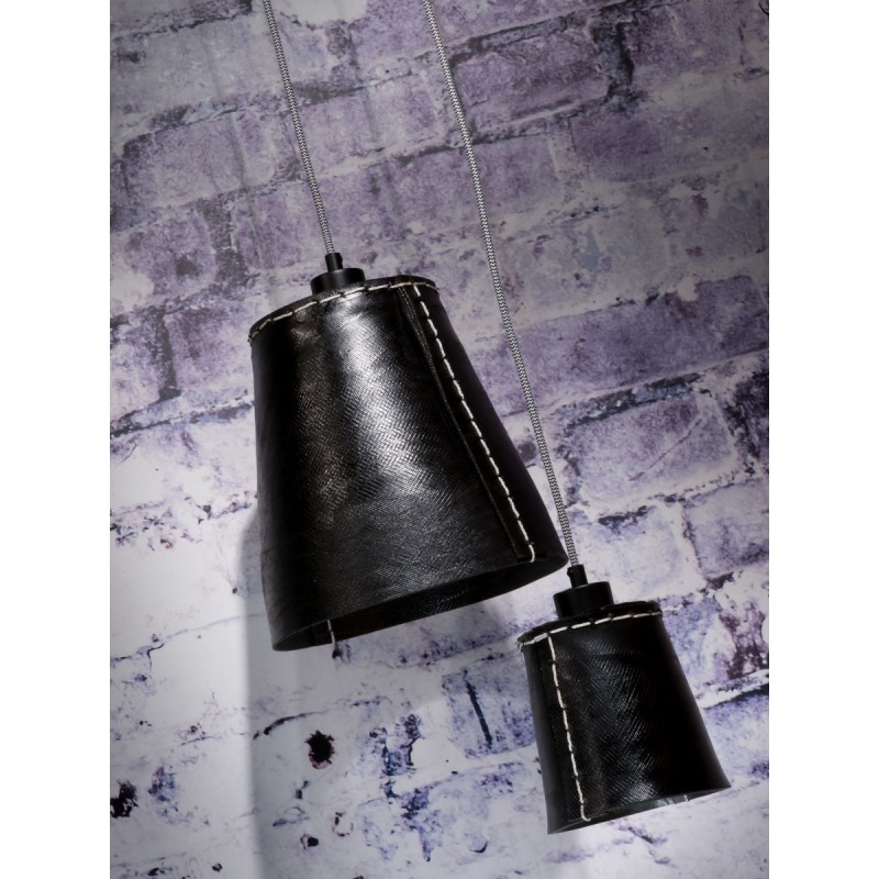 AMAZON XL 1 recycled tire suspension lamp shade (black) - image 45034