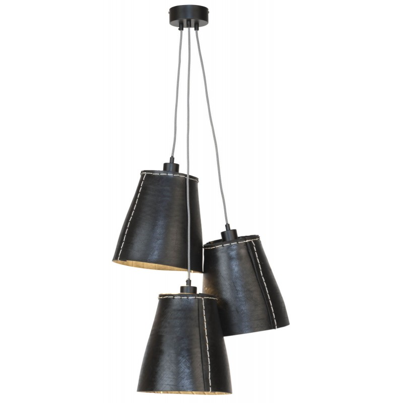 AMAZON XL 3 lampshade recycled tire suspension lamp (black) - image 45041