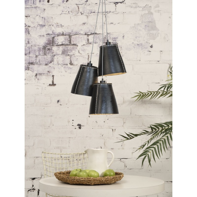 AMAZON XL 3 lampshade recycled tire suspension lamp (black) - image 45049