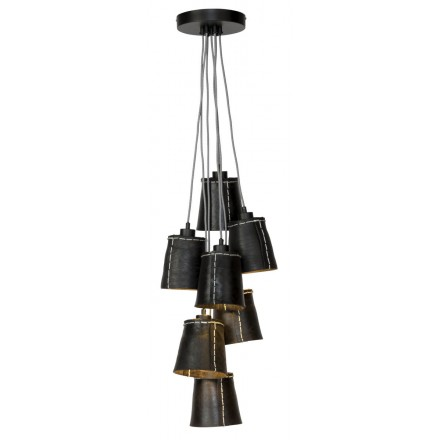 AMAZON XL 7 recycled tire suspension lamp lamp shade (black)