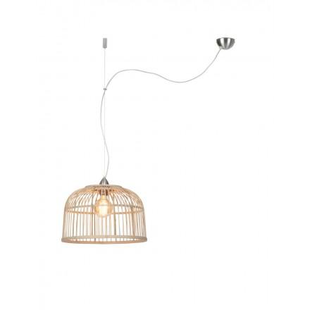 Lámpara de pie escandinavo MONA (natural, gris)