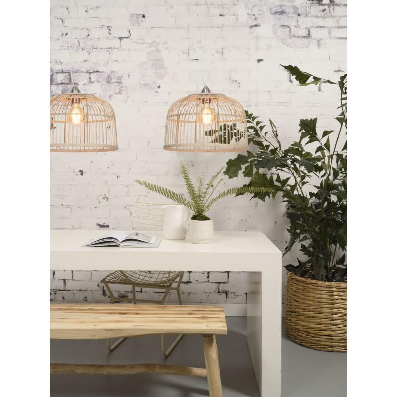 Lampe à suspension en bambou BORNEO SMALL (naturel) - image 45062