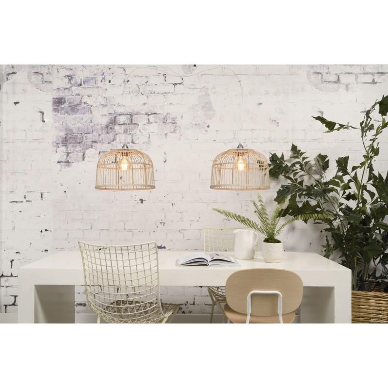 Lampe à suspension en bambou BORNEO SMALL (naturel) - image 45063
