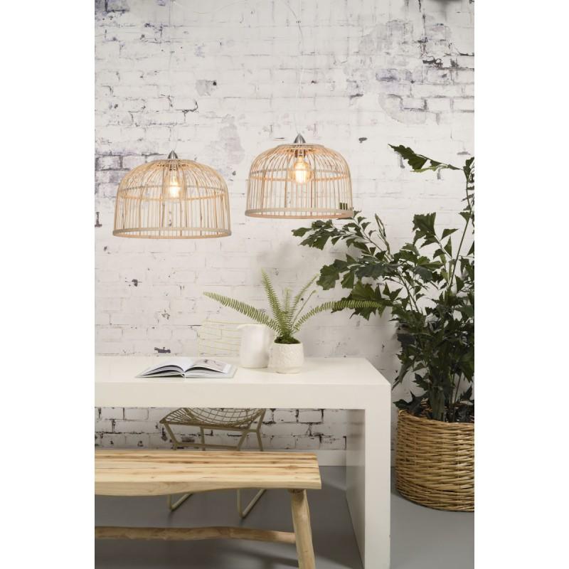 Lampe à suspension en bambou BORNEO SMALL (naturel) - image 45065