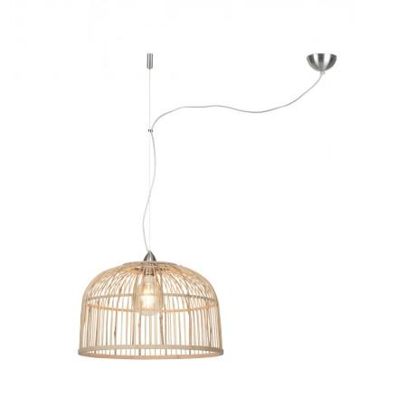 Lámpara de suspensión de bambú BORNEO XL (natural)
