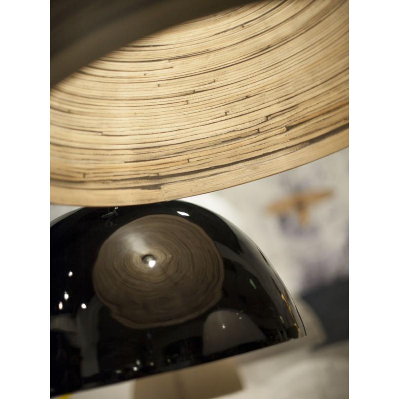 Lámpara de suspensión de bambú HALONG (negro) - image 45108