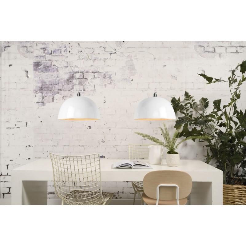 Lampe à suspension en bambou HALONG (blanc) - image 45129