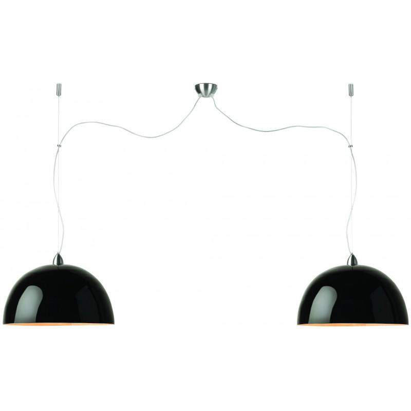 HALONG Bamboo Lámpara de Suspensión 2 pantallas (negro)