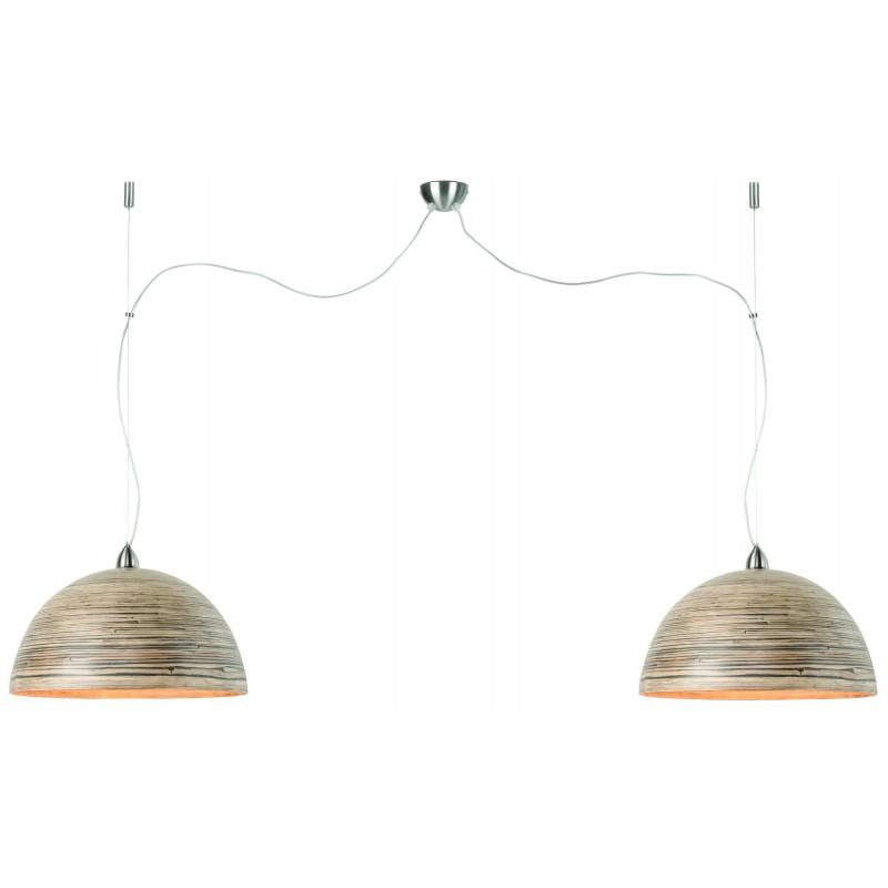 HALONG Bamboo Suspension Lamp 2 paralumi (naturale)