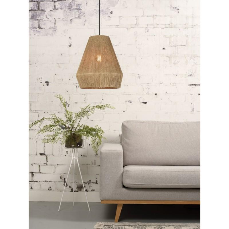 Lampe à suspension en jute IGUAZU SMALL (Ø 40 cm) (naturel) - image 45169