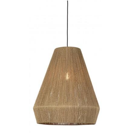 Lampe à suspension en jute IGUAZU XL (Ø 50 cm) (naturel)