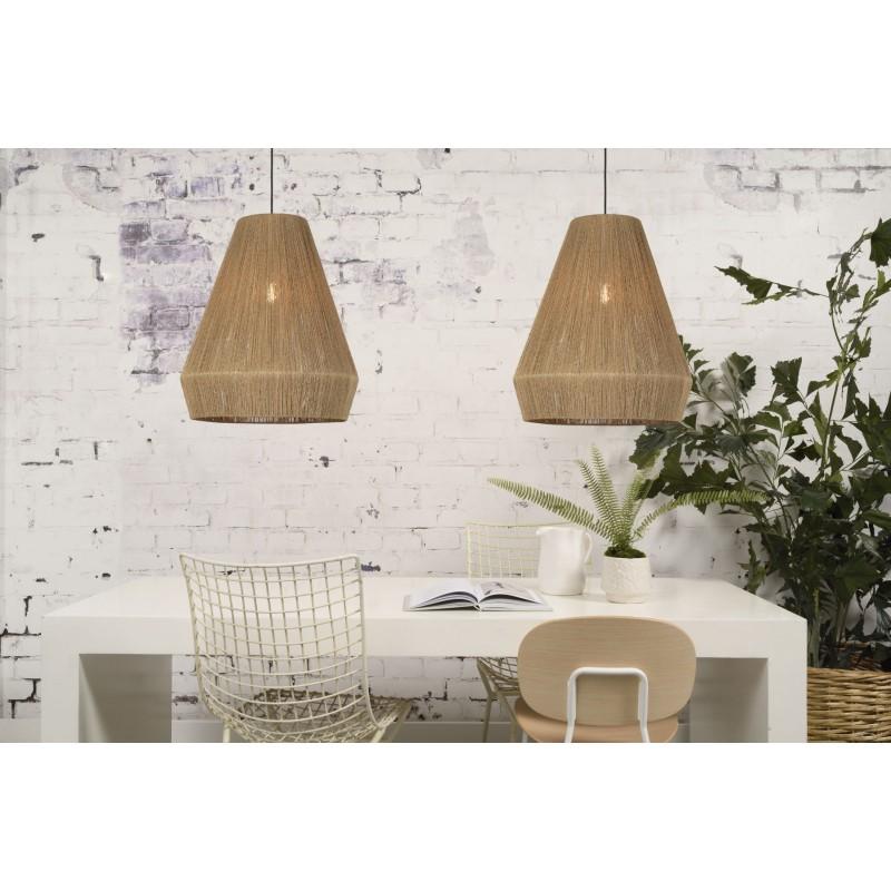Lampe à suspension en jute IGUAZU XL (Ø 50 cm) (naturel) - image 45179