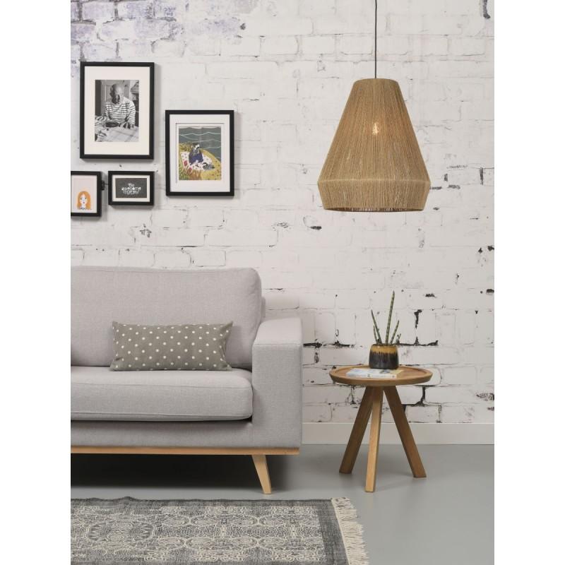 Lampe à suspension en jute IGUAZU XL (Ø 50 cm) (naturel) - image 45181