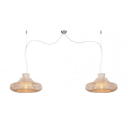 KHALAHARI SMALL 2 lampshade (natural) rattan suspension lamp