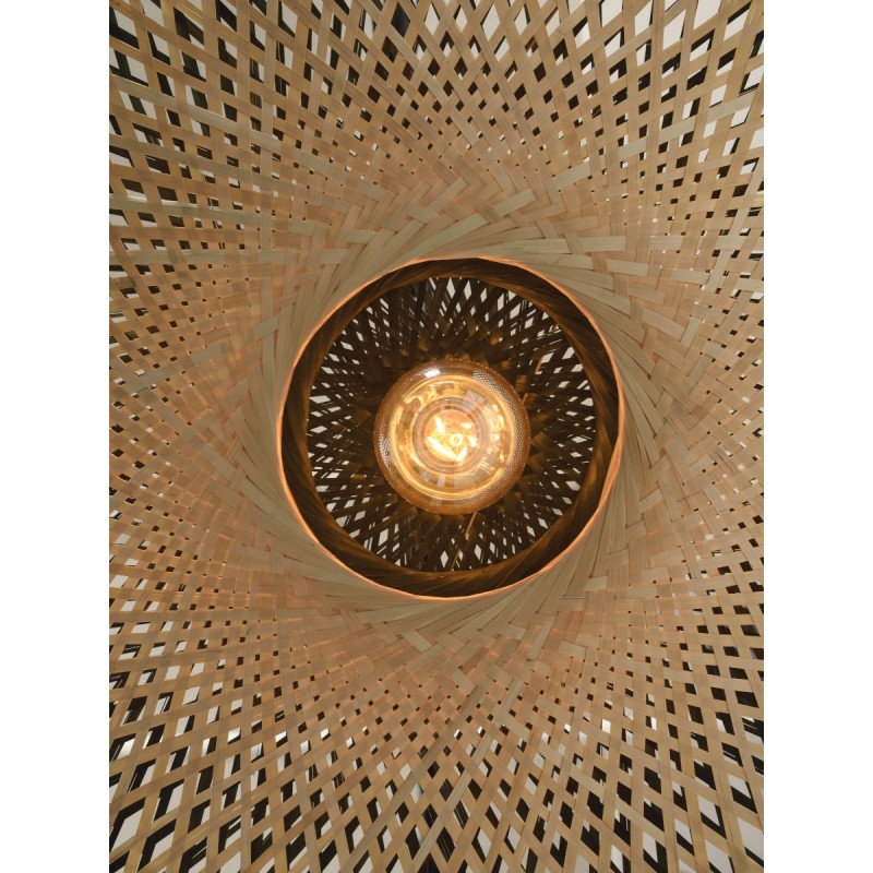 KALIMANTAN SMALL bamboo suspension lamp (natural, black) - image 45228