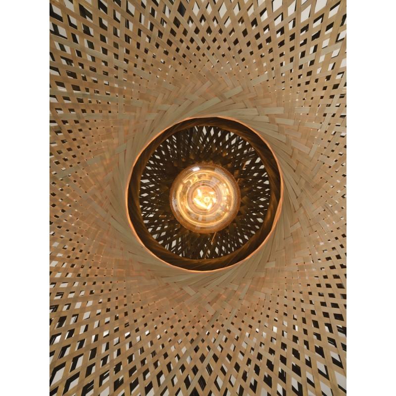 Lampe à suspension en bambou KALIMANTAN SMALL (naturel, noir) - image 45228