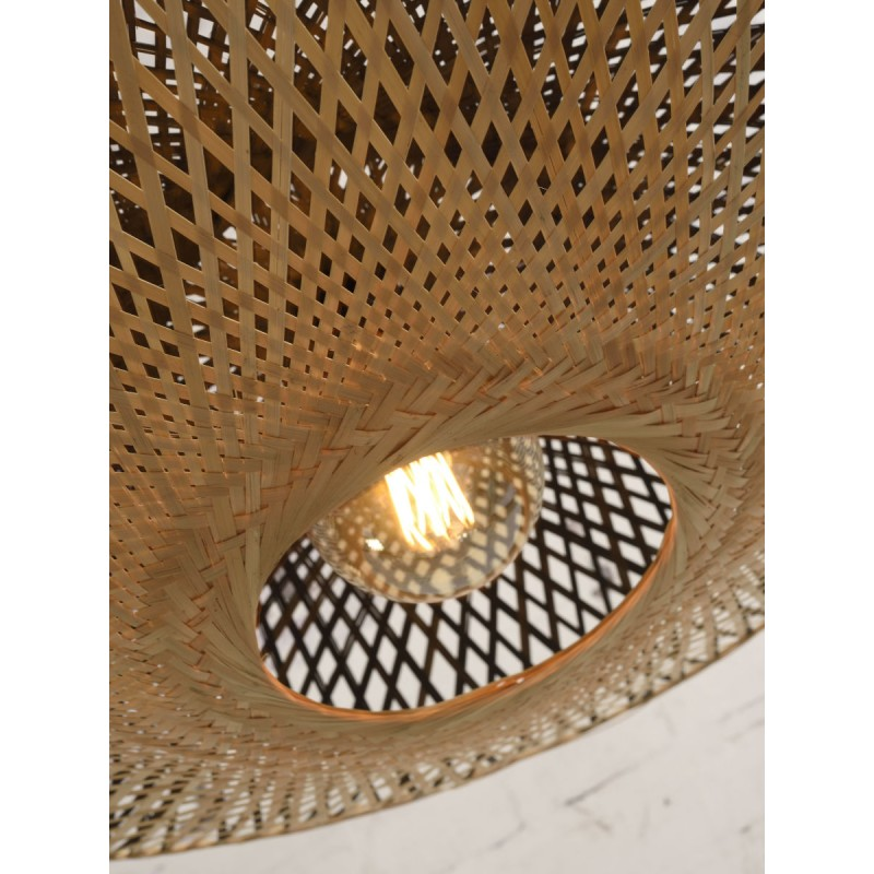 Lámpara de suspensión de bambú KALIMANTAN XL (natural, negro) - image 45237