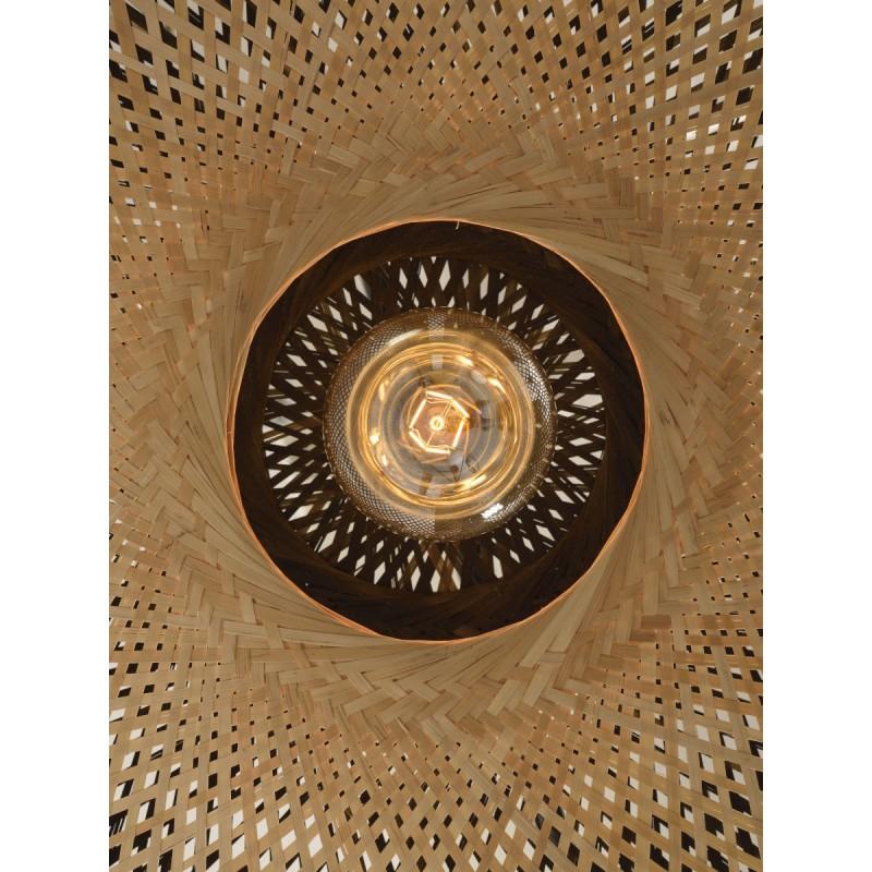 Lámpara de suspensión de bambú KALIMANTAN XL (natural, negro) - image 45238