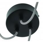 KaliMANTAN lámpara de suspensión de bambú 3 pantallas (natural, negro)