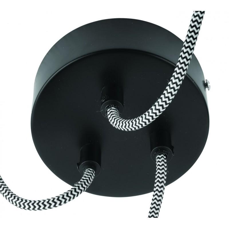 KaliMANTAN lámpara de suspensión de bambú 3 pantallas (natural, negro) - image 45253