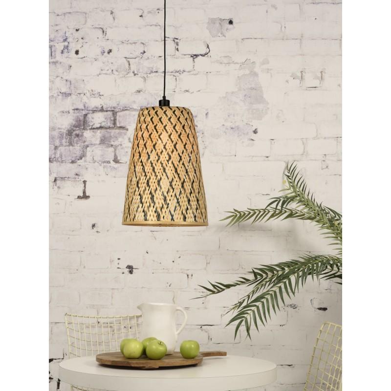 Lámpara de suspensión de bambú KALIMANTAN H48 (natural, negro) - image 45258