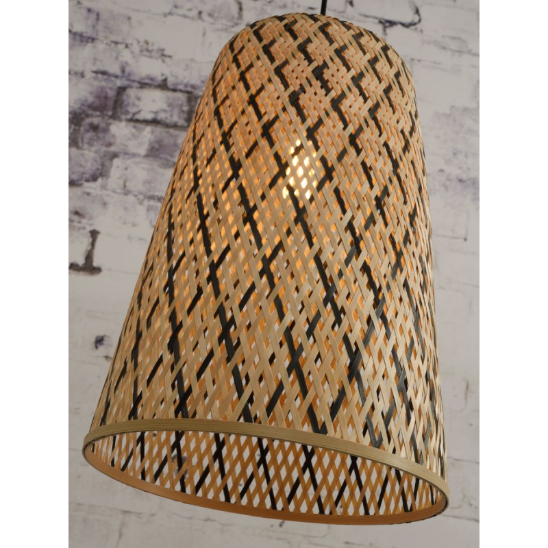 KALIMANTAN H48 bamboo suspension lamp (natural, black) - image 45261
