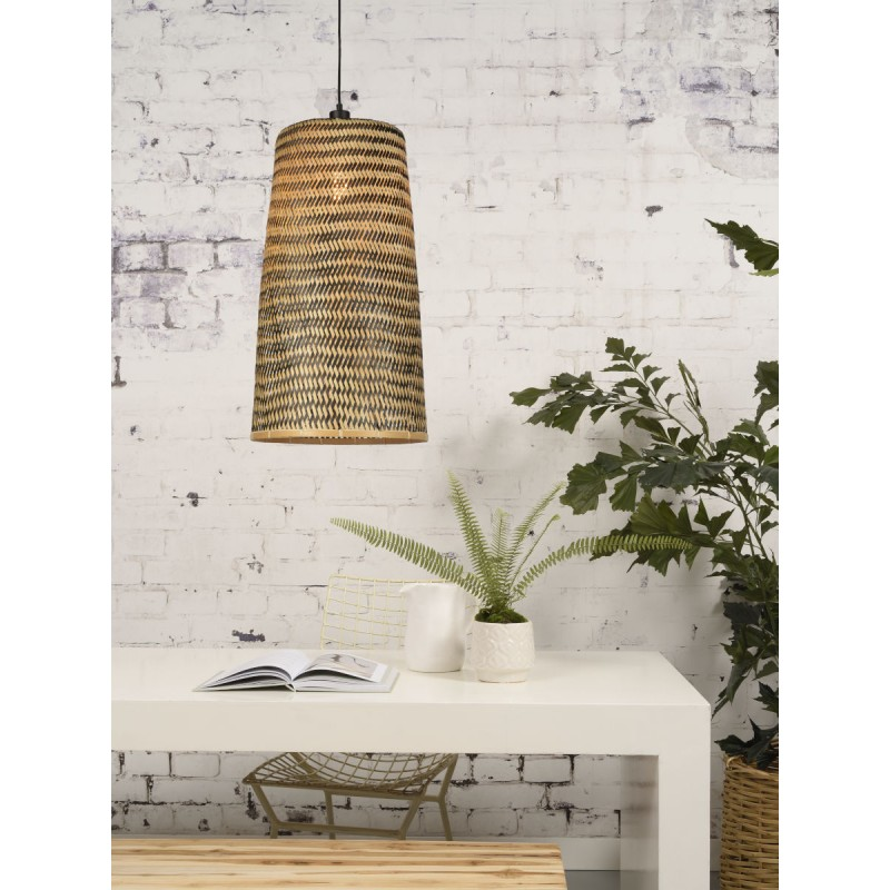 Lámpara de suspensión de bambú KALIMANTAN H66 (natural, negro) - image 45267