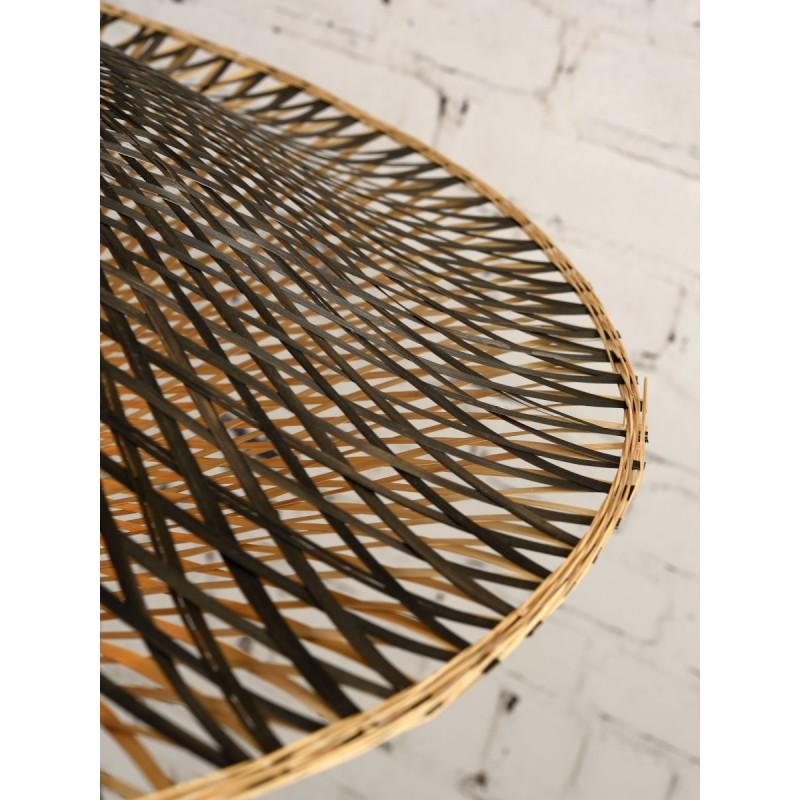 KaliMANTAN SMALL bamboo wall applique (natural, black) - image 45296