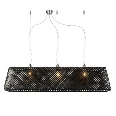 KOMODO bamboo suspension lamp (black)
