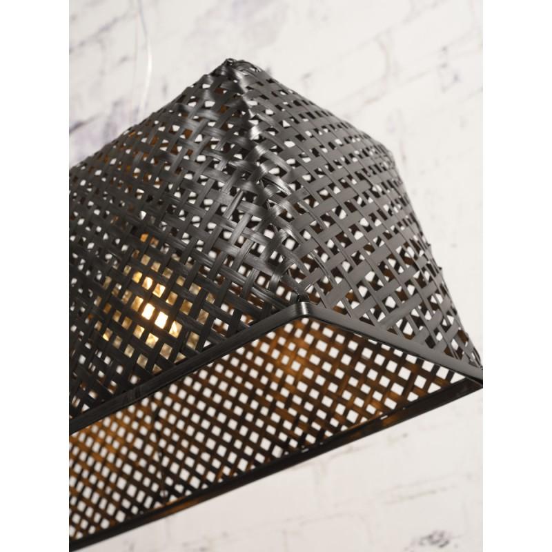 Lámpara de suspensión de bambú KOMODO (negro) - image 45312