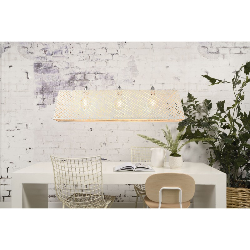 KOMODO bamboo suspension lamp (white) - image 45326