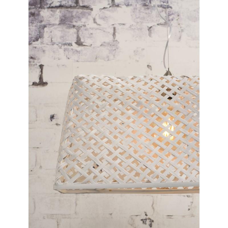 Lampe à suspension en bambou KOMODO (blanc) - image 45327