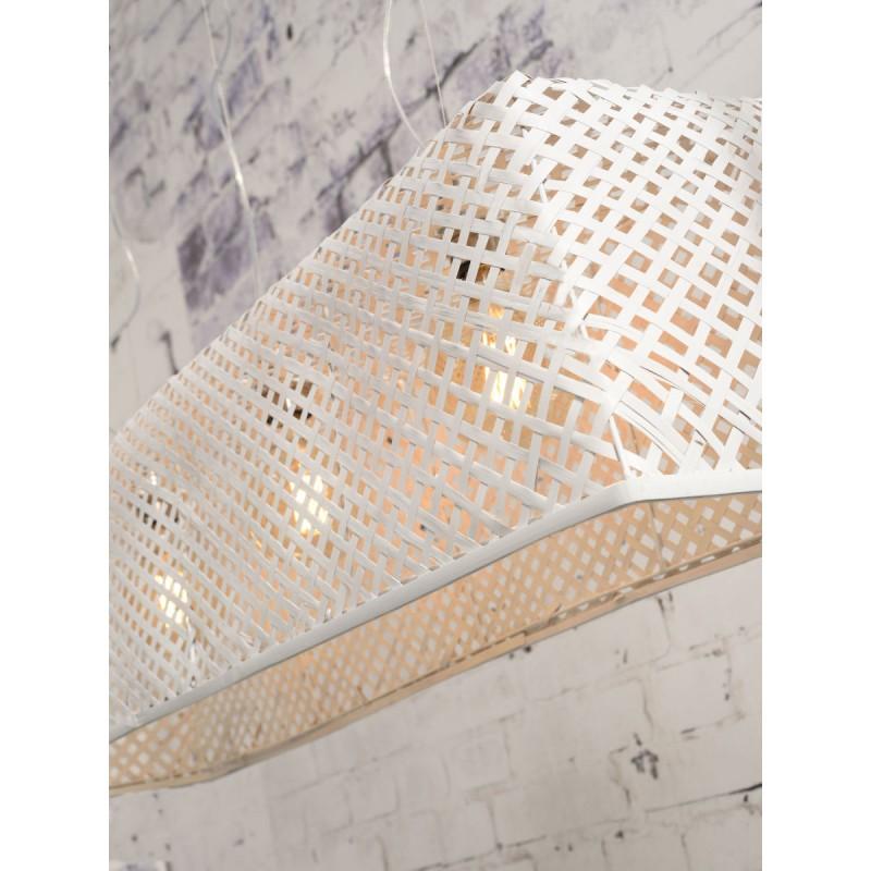 Lampe à suspension en bambou KOMODO (blanc) - image 45330