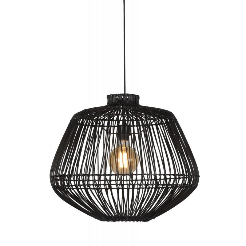 Lámpara de suspensión de ratán MADAGASCAR (negro) - image 45333