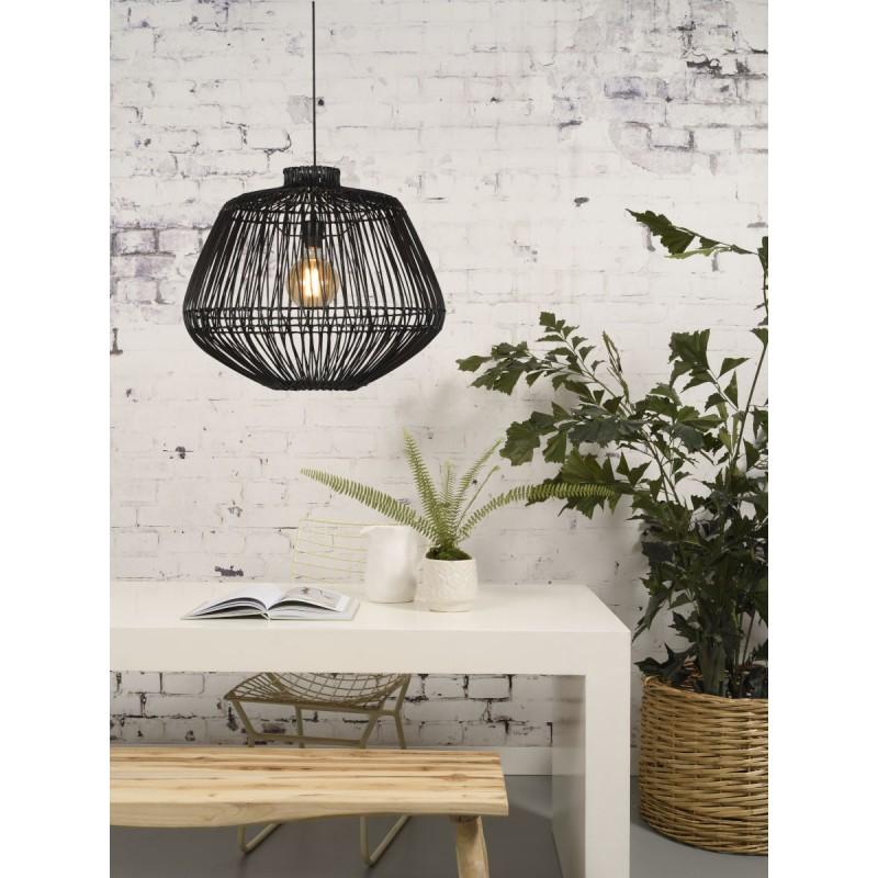 Lampe à suspension en rotin MADAGASCAR (noir) - image 45334