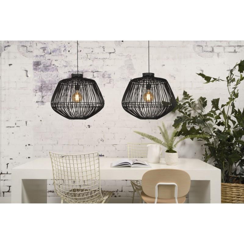 Lampe à suspension en rotin MADAGASCAR (noir) - image 45335